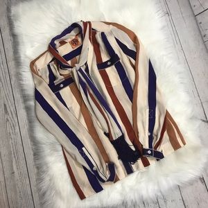 Tory Burch silk blouse with removable scarf